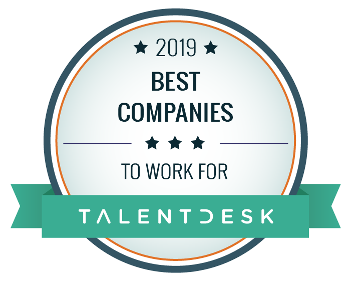 2019 Best Companies to work for rated by Talentdesk